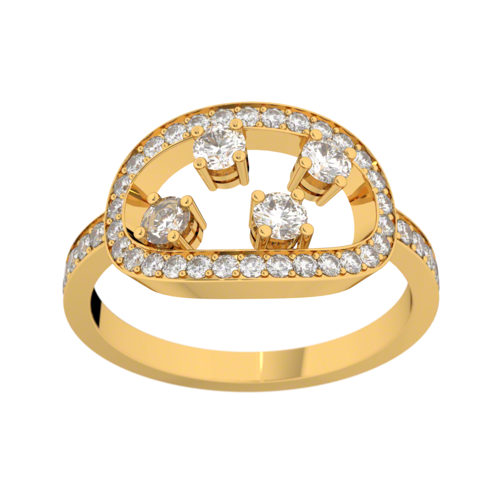 Bague diamants or jaune MA CONSTELLATION 0,68 ct