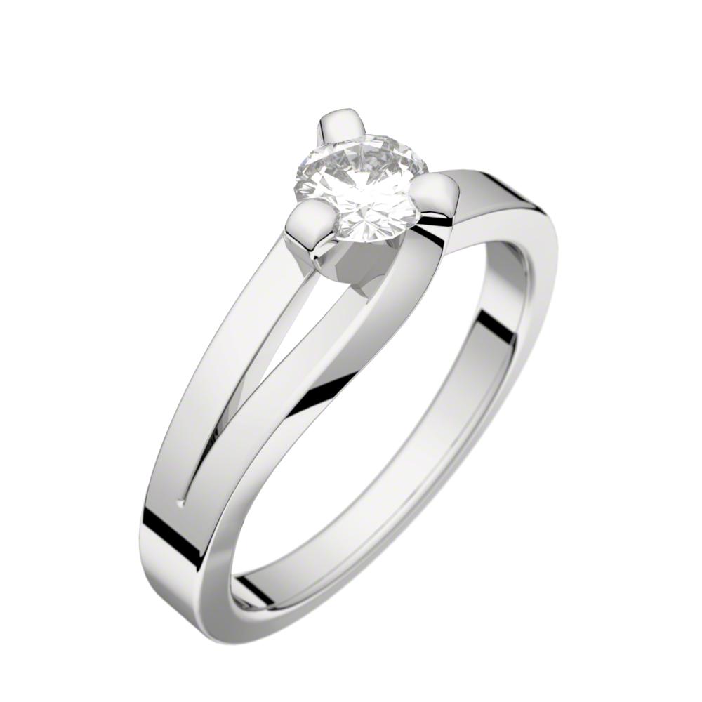 Solitaire Sarasate diamant 0,30 ct GVS platine