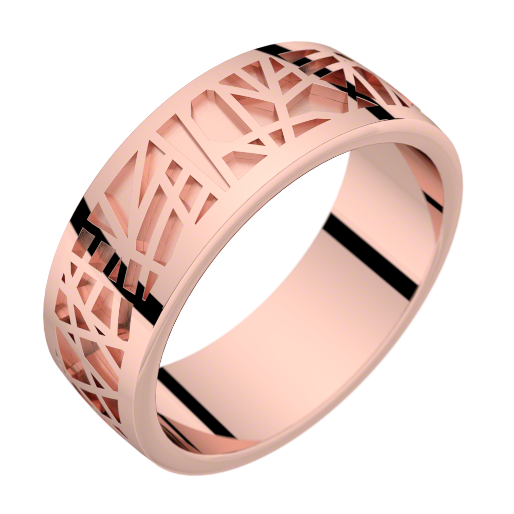 Bague homme or rose ABSTRACTION 75