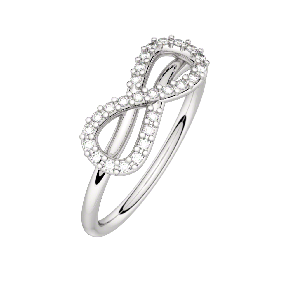 Diamond ring white gold MON AMOUR INFINI 0,13 ct HSI