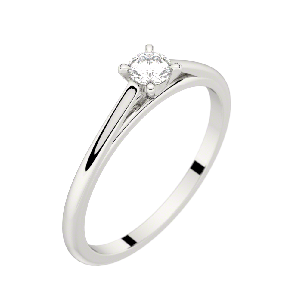 Platinum solitaire ring FAUBOURG 0,15 CT GVS