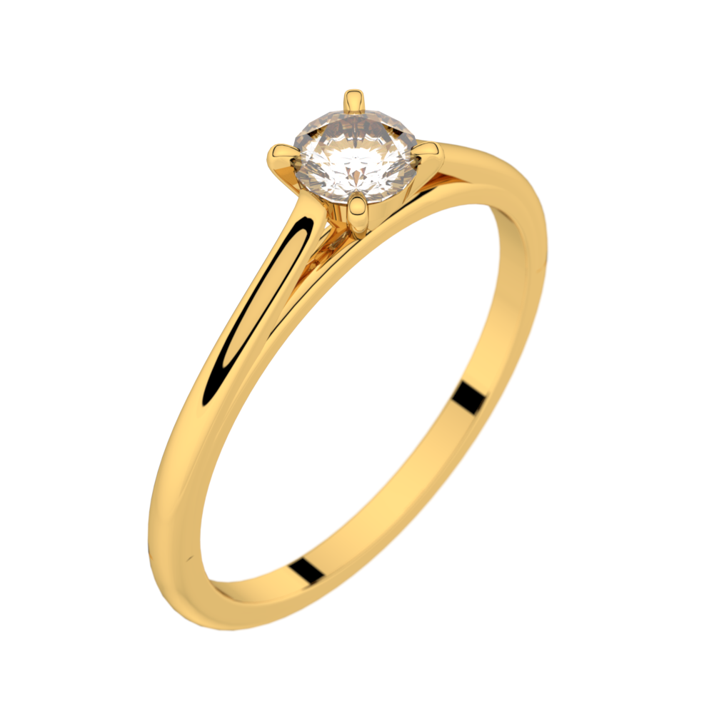 Solitaire or blanc diamant 0,25 ct GVS FAUBOURG