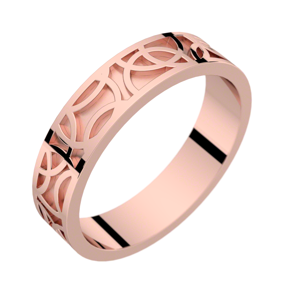 Pink gold ring Crop Circle 50