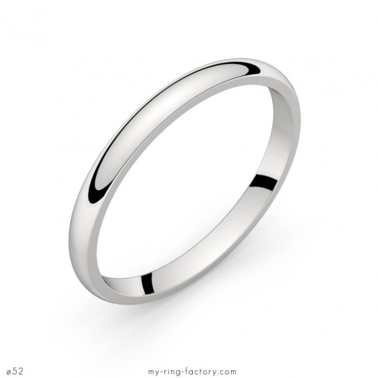 Alliance de mariage or blanc Equation 2,0 mm
