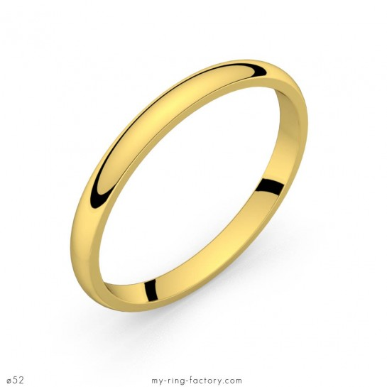 Alliance de mariage or jaune Equation 2,0 mm