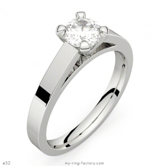 Bague de fiançailles or blanc diamant 0,50 ct HSI SAINT GERMAIN