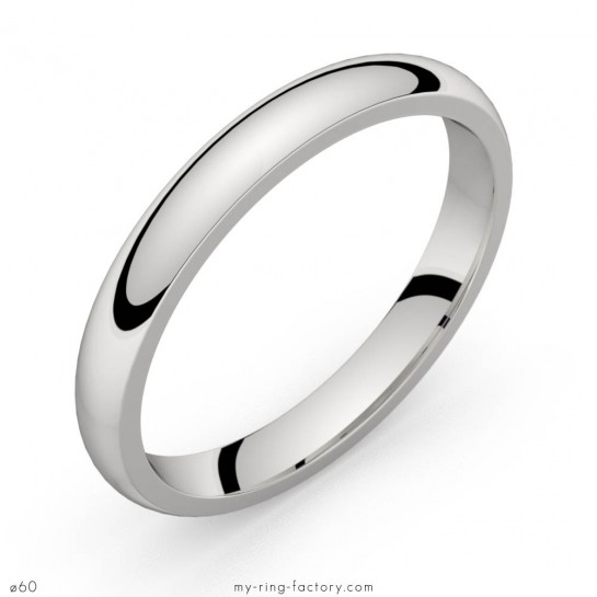 Alliance de mariage or blanc Equation 3,0 mm