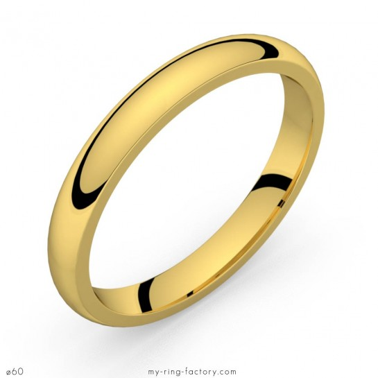 Alliance de mariage or jaune Equation 3,0 mm