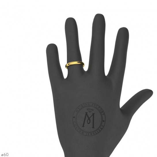 Alliance de mariage or jaune Equation 3,5 mm