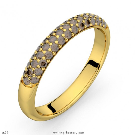 Alliance diamants chocolat or jaune Céleste 0,43 ct