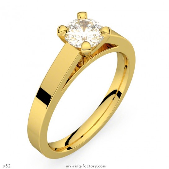 Bague de fiançailles or jaune diamant 0,50 ct GVS Saint-Germain