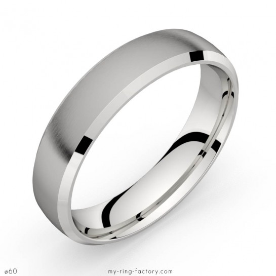 Bague homme or blanc Ego 5.0