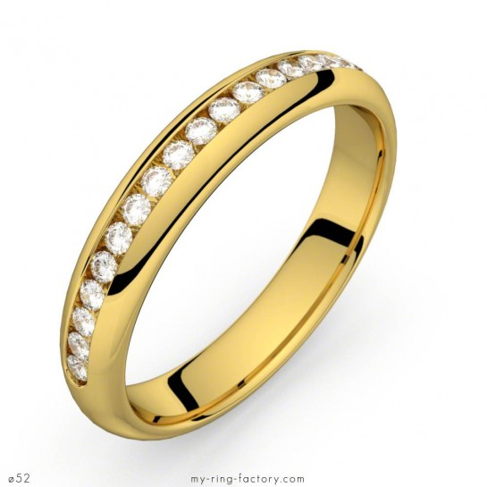 Alliance diamants or jaune rail 0,22 ct HSI COMETE