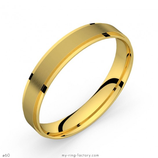 Bague homme or jaune mat Style 4.0