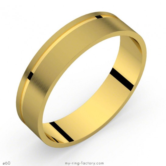Bague homme or jaune mat Indy 5.0