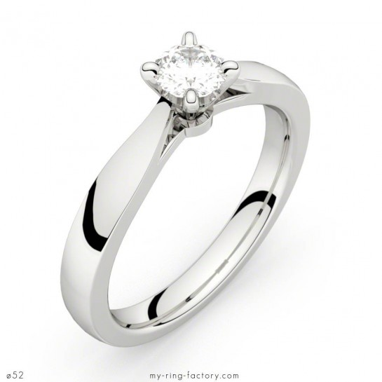 Solitaire or blanc diamant 0,30 ct Faubourg HSI