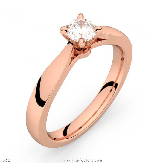 Solitaire or rose diamant 0,30 ct Faubourg HSI