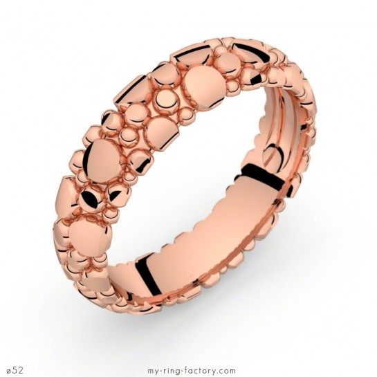 Bague or rose Manta