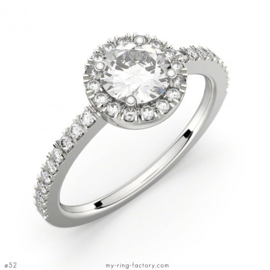 Solitaire Madeleine or blanc diamants 0,80 ct GVS