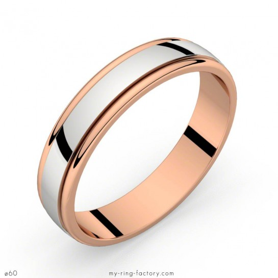 Alliance Horus 2 ors or rose or blanc 4,5 mm par my-ring-factory
