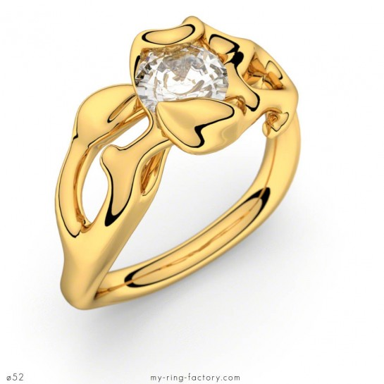 Solitaire Obsession or jaune diamant 0,50 ct H-SI