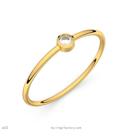 Solitaire So Lovely or jaune diamant 0,05 ct H-SI