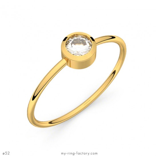 Solitaire So Lovely or jaune diamant 0,20 ct H-SI