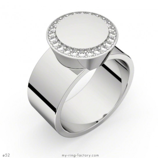 Bague Carats of Love or blanc diamants 0,20 ct GVS