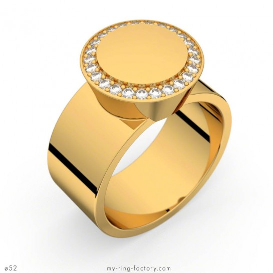 Bague Carats of Love or jaune diamants 0,20 ct GVS