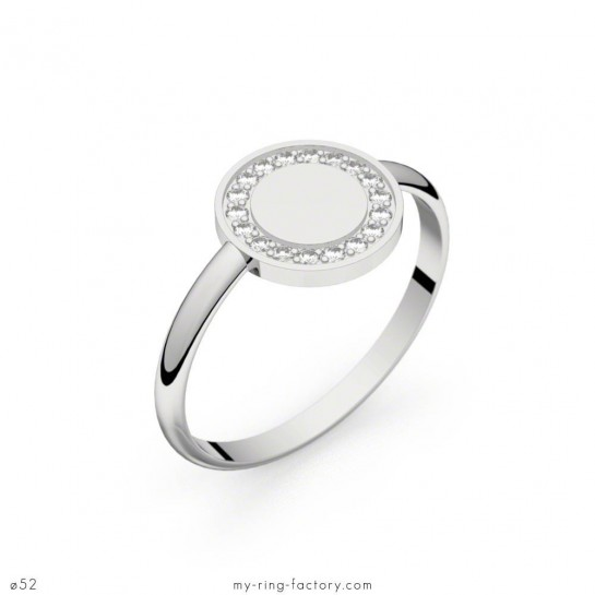 Bague Circles of Love or blanc diamants 0,10 ct GVS
