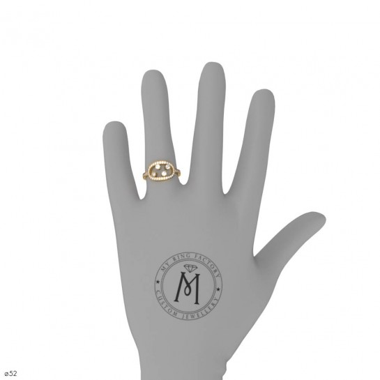 Bague Ma Constellation Pavage or jaune diamants 0,68 ct GVS