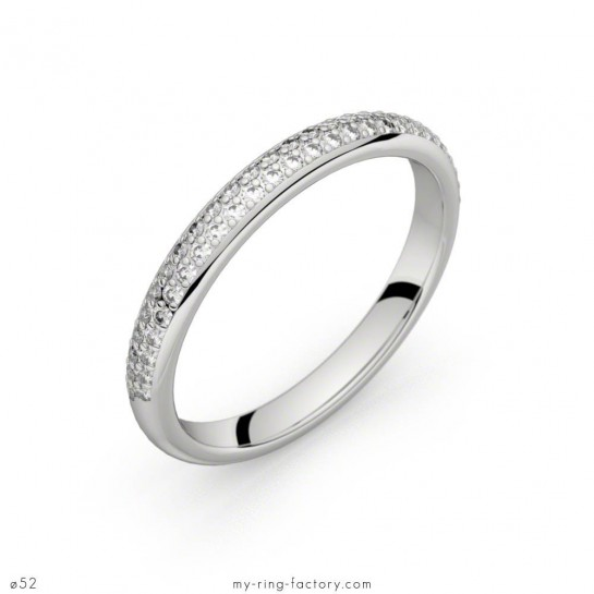 Alliance Bérénice or blanc diamants 0,27 ct H-SI