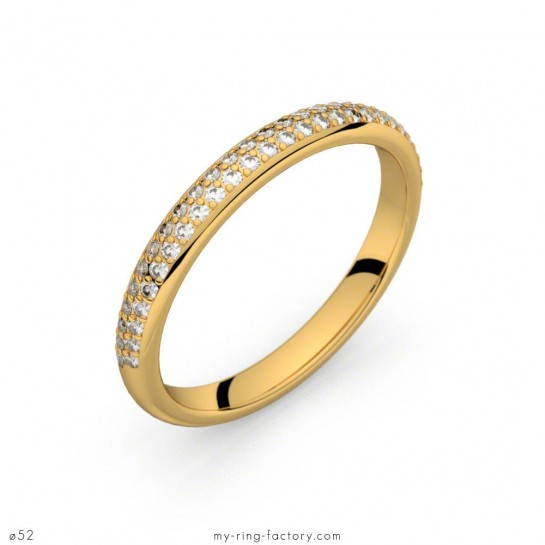Alliance Bérénice or jaune diamants 0,27 ct H-SI