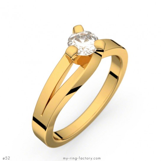 Solitaire Sarasate diamant 0,30 ct H-SI or jaune
