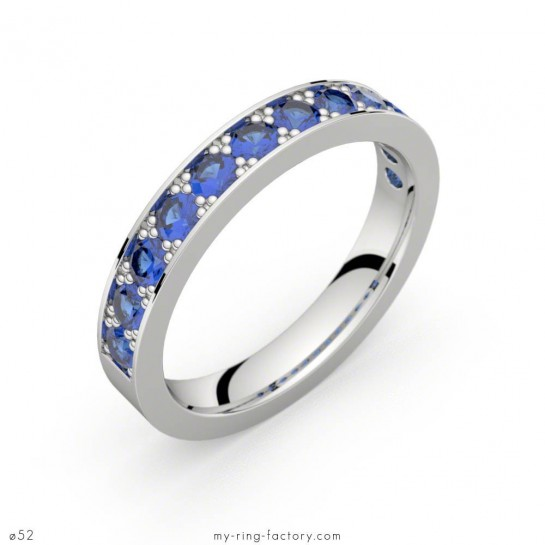 Alliance Auriga saphirs bleus or blanc 0,96 ct