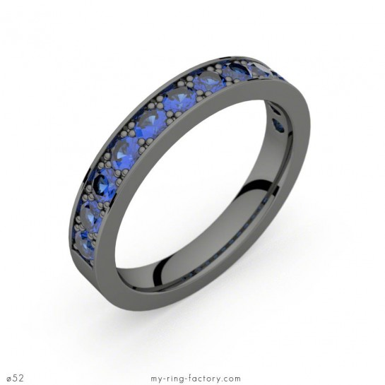 Alliance Auriga saphirs bleus or noir 0,96 ct