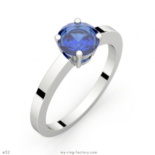 Bague Daphné saphir bleu or blanc 1,37 ct