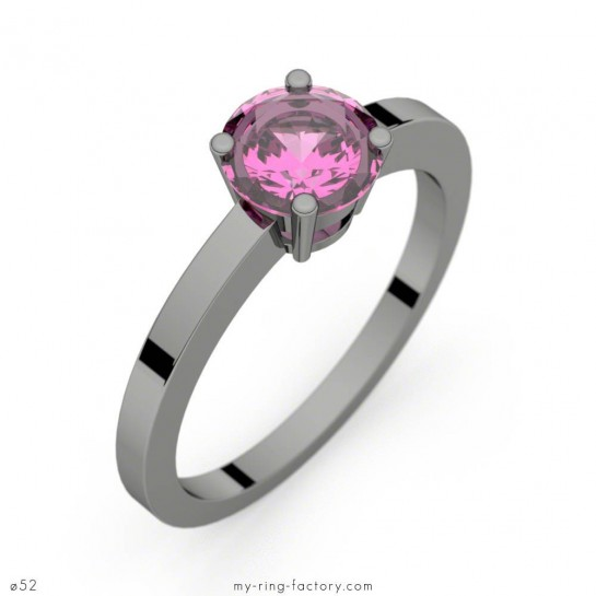 Bague Daphné saphir rose or noir 0,98 ct