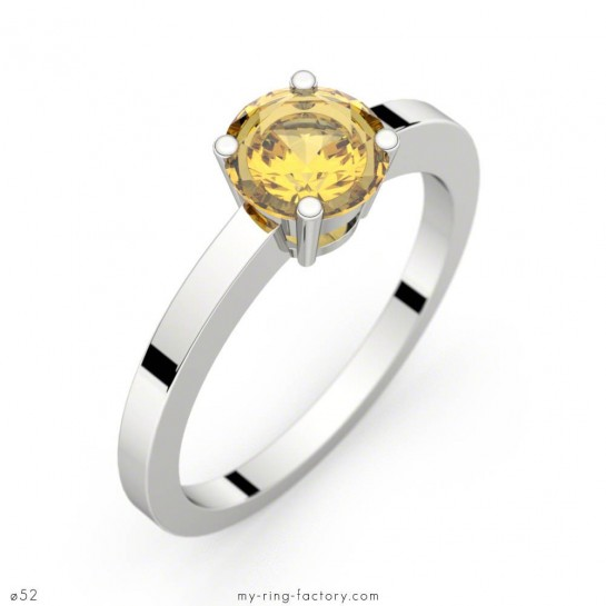 Bague Daphné saphir jaune or blanc 1,16 ct