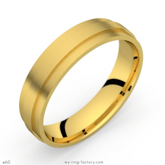 Bague homme or jaune Hugues 50