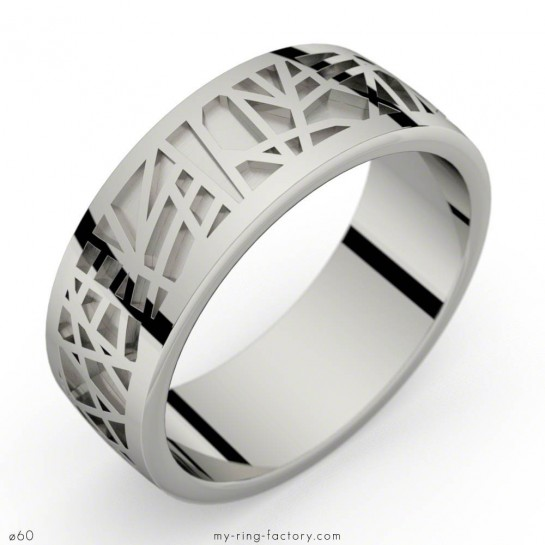 Bague or gris Abstraction 75