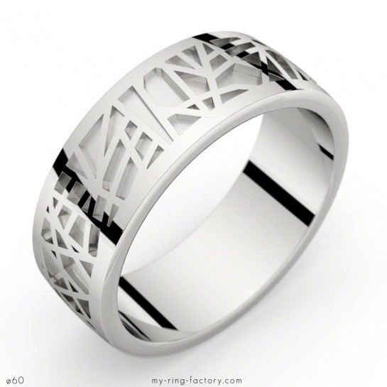 Bague or blanc Abstraction 75