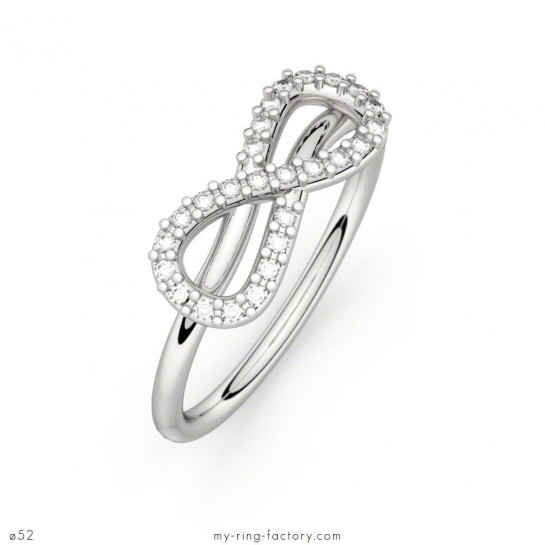 Bague Mon Amour Infini or blanc diamants 0,13 ct H-SI