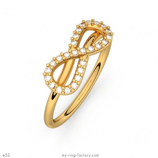 Bague Mon Amour Infini or jaune diamants 0,13 ct H-SI
