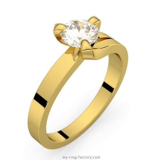 Solitaire diamant or jaune Sarasate 0,50 ct H-SI