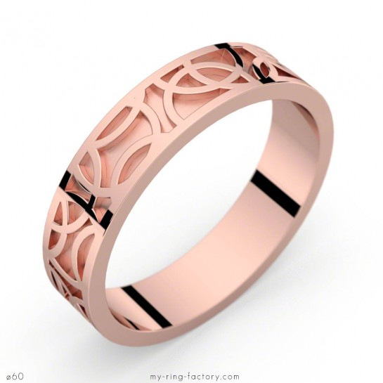 Bague mixte Crop Circles or rose