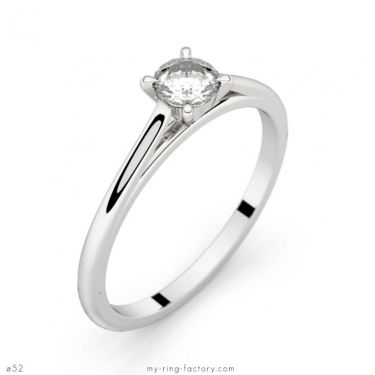 Solitaire Faubourgor blanc diamant 0,25 ct H-SI