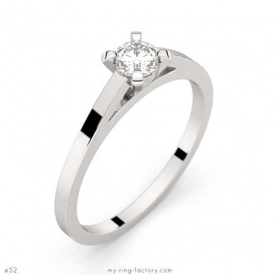 Solitaire or blanc diamant 0,35 ct HSI SAINT-GERMAIN